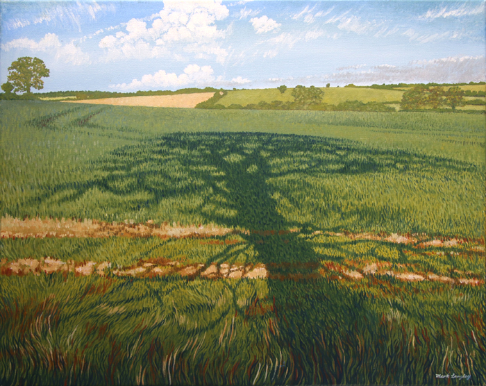 'Shottle Tree Shadow' - Oil on canvas not framed by Mark Langley Fine Artist - 51.5 x 40.5 cm. Please enquire.